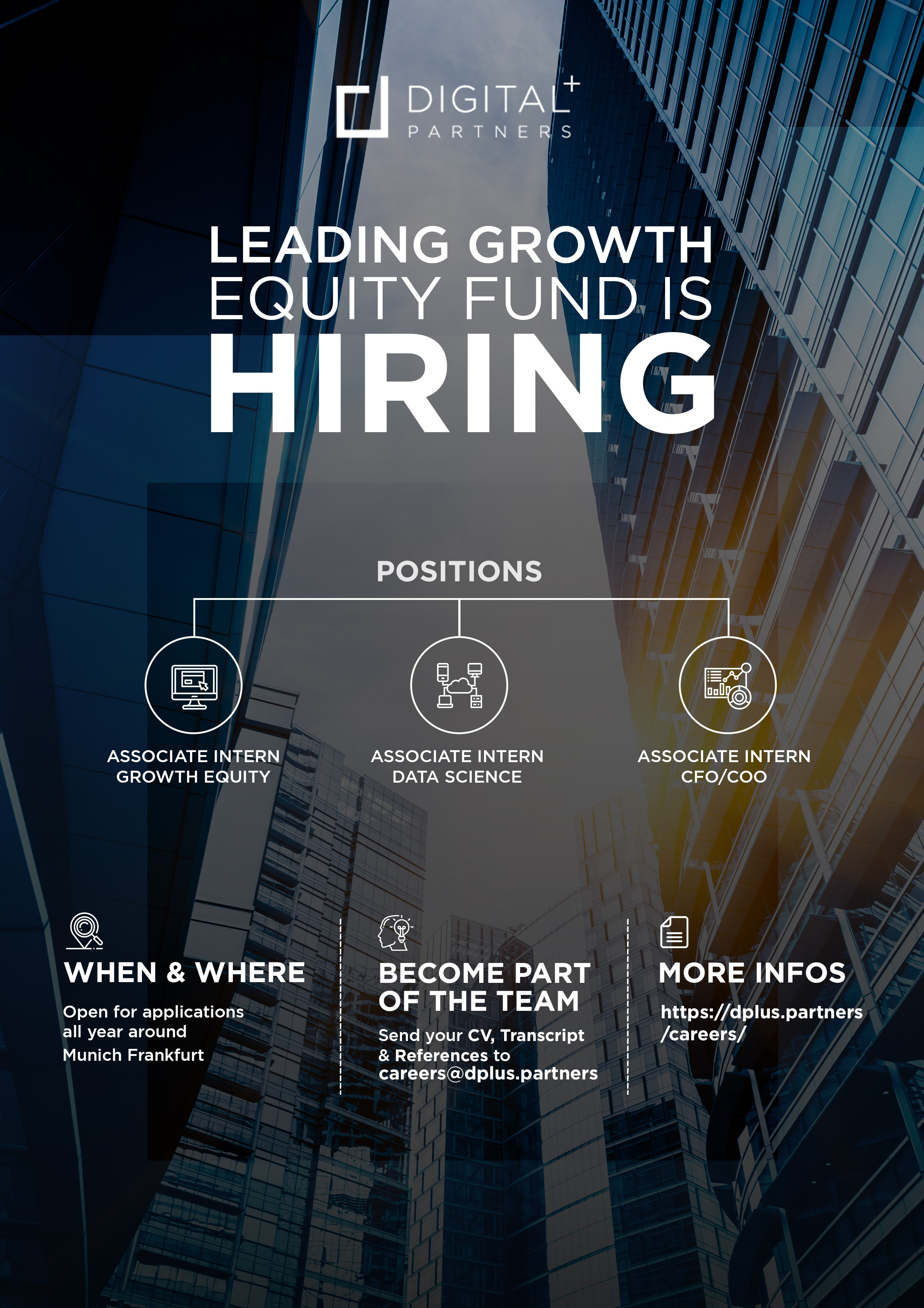 Recruting Flyer for a young Growth Equity company