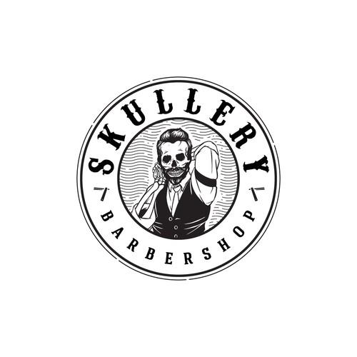 Logo for a new vintage hip barbershop