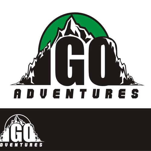 Create an iconic logo for IGO Adventures