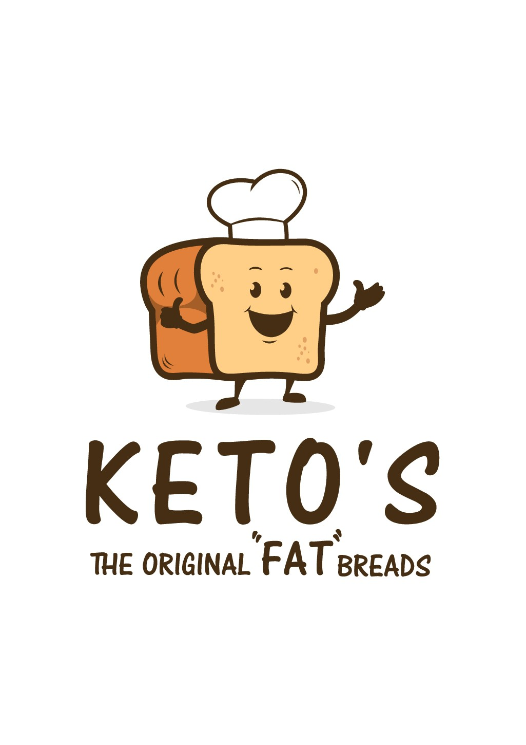 """Go Crazy Designing A Funny Logo For What We Hope becomes the """"halo top"""" of keto breads"""