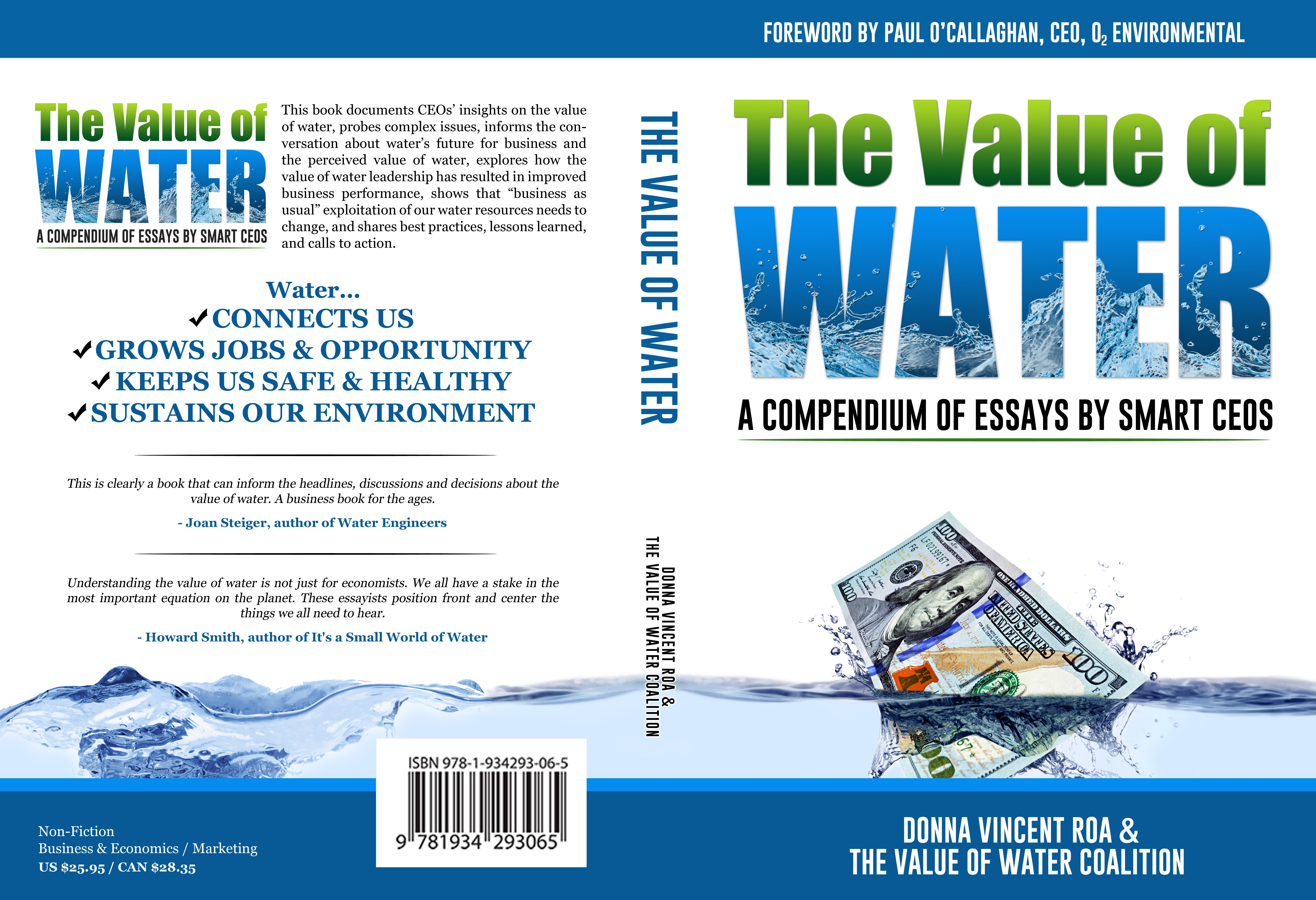 [Book Cover] The Value of Water: A Compendium of Essays by Smart CEOs
