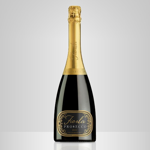 Create a modern looking Prosecco label