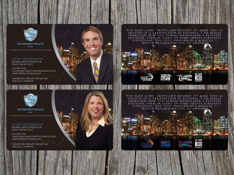 Business Cards for Silvercrest Realty Group