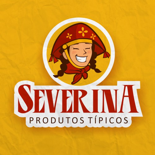 logo character and rustic , traditional and folkloric