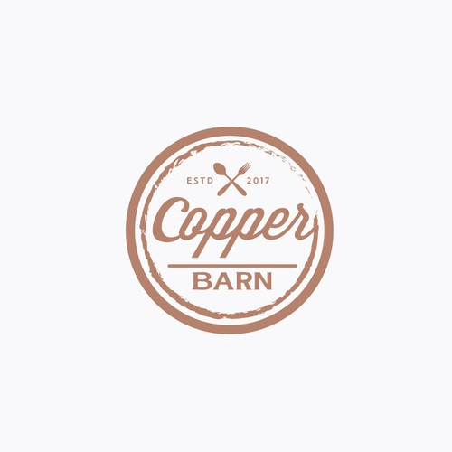 """Need simply an amazing design for """"Copper Barn"""" *utilize the copper part*. Contrast with acutal copper textures."""