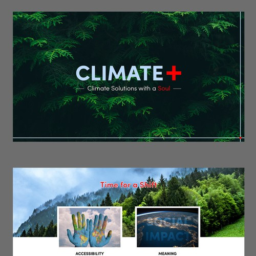 Powerpoint deck for climate solutions; a social impacts and environmental company