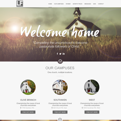 LF Church Website Design
