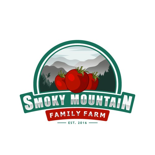 Smoky Mountain Family Farms logo design