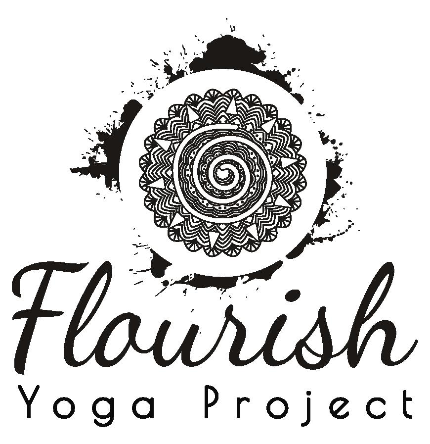 Create an inviting yoga & wellness graphic for Flourish Yoga Project