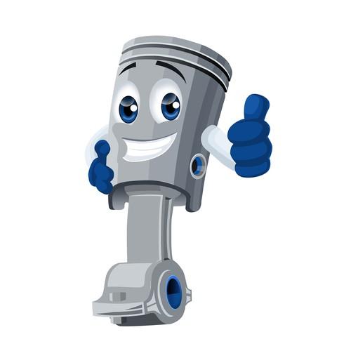 Cartoon human mascot