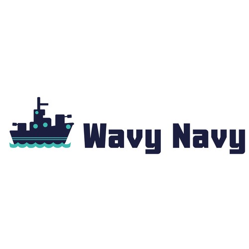 """""""Wavy Navy""""-logo for a mobile game"""