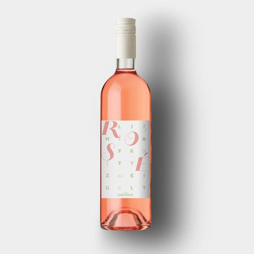 Label design for crisp rose wine