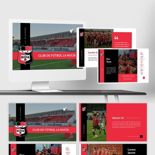 CF La Nucía - Soccer - PowerPoint Template