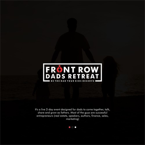 logo for front row dads retreat