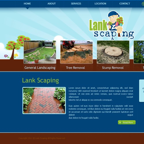 Landscape website design required