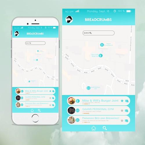 Elegant mobile app mock