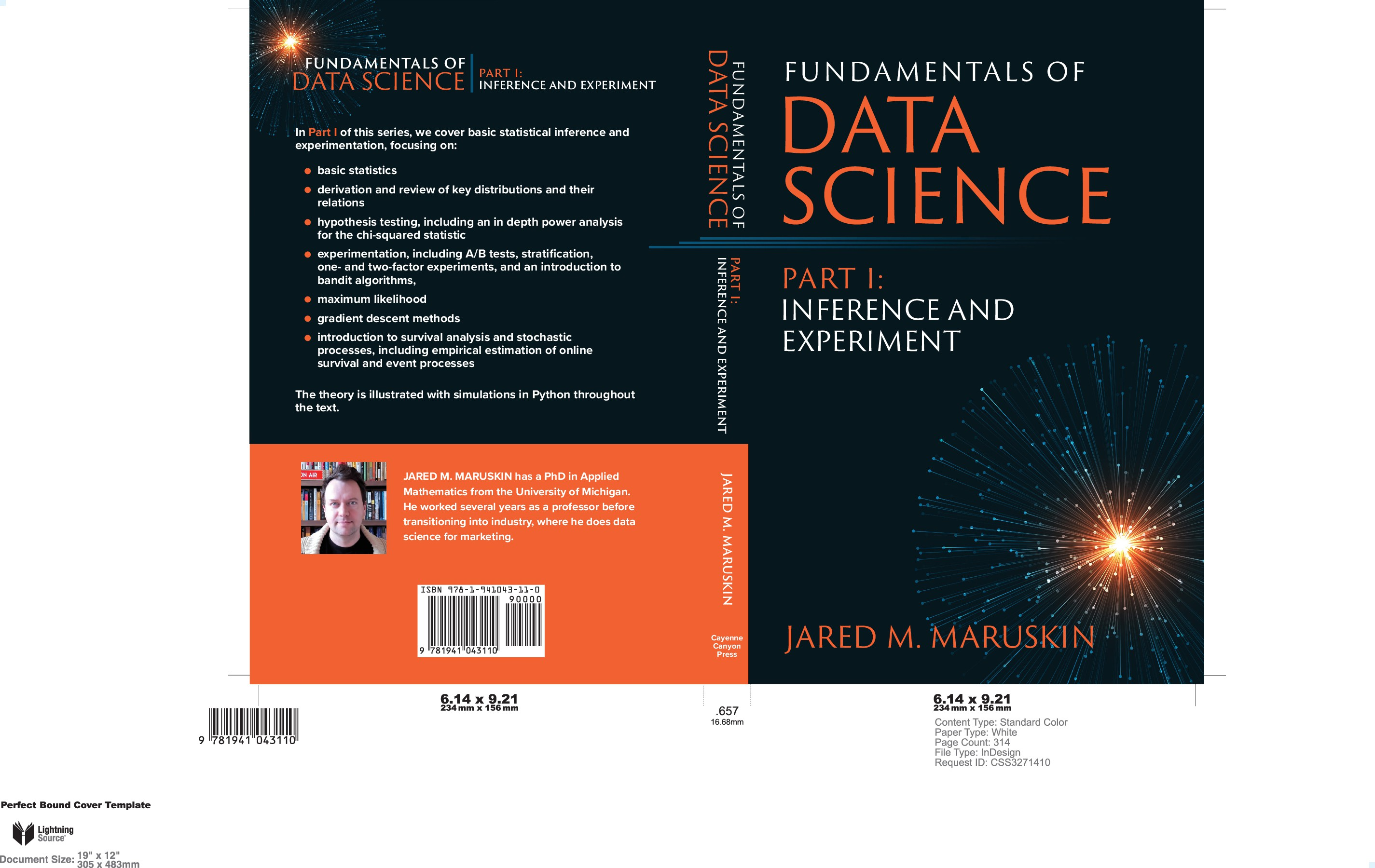 Simple Elegant Cover for Data Science Book