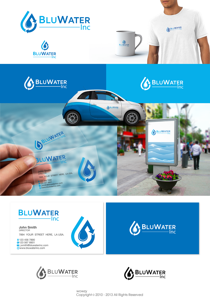 Blu Water Inc looking for corporate new logo and business cards.