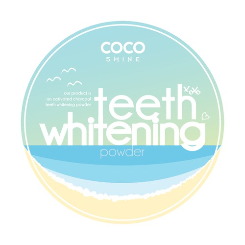 Coco Shine Teeth Whitening Label Concept