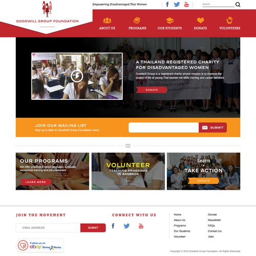 New Site Design for award-winning, but still uknown, NGO