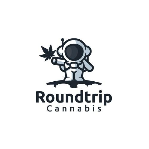 logo concept for roundtrip cannabis