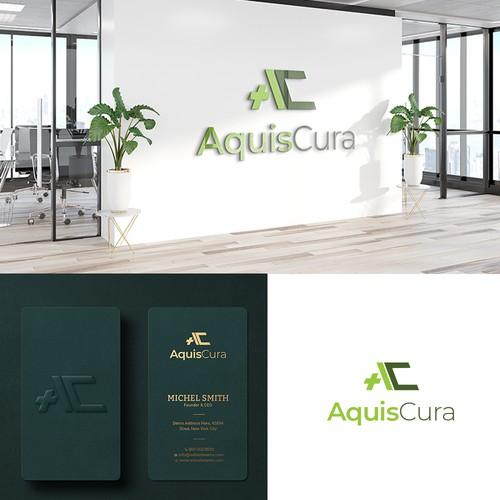Aquis Cure logo deisgn