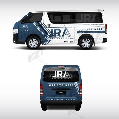 car wrap design for JRA Construction