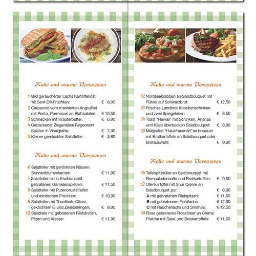 Erstellen Sie einen Flyer für einen Gastronomie-Betrieb der unsere Kompetenz darstellt