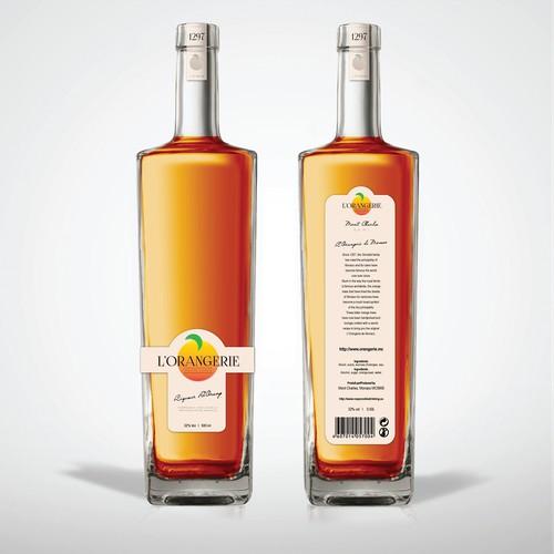 Label Design For Liqueur Company