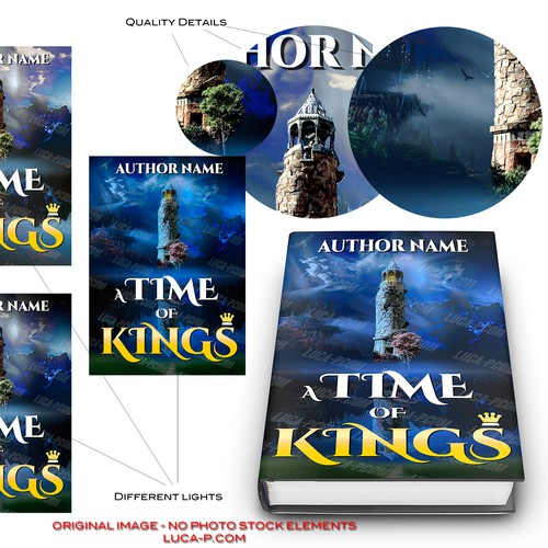 Create an eBook cover for a fantastical, historical, Arthurian novel for an first time author!