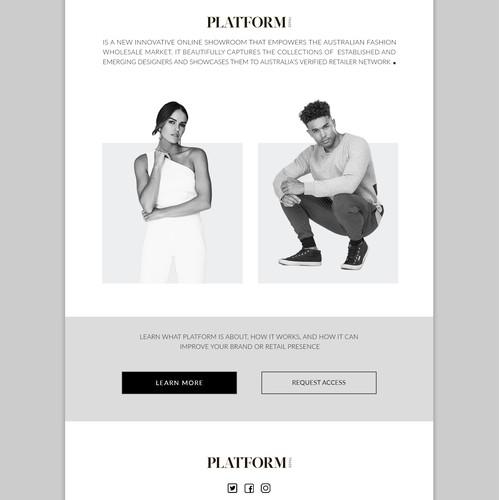 E-mail template design