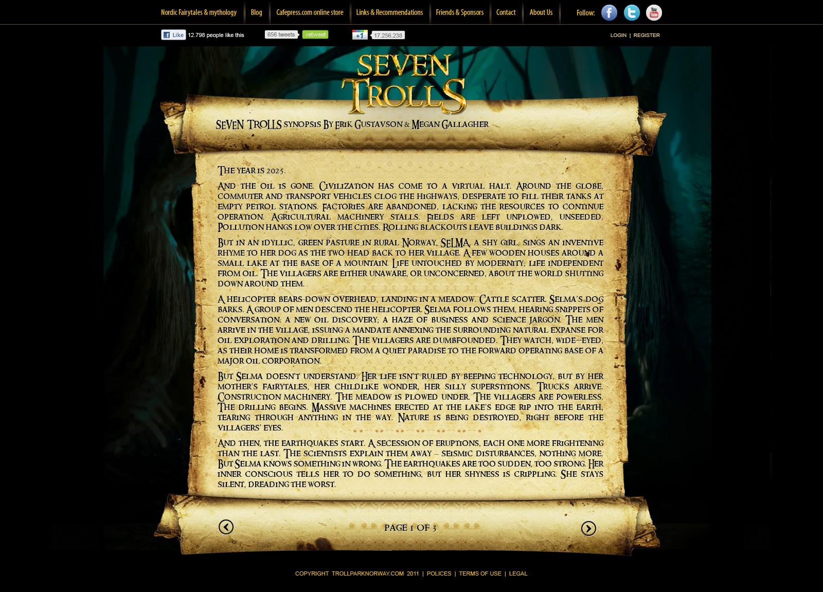 WEBSITE DESIGN :  www.trollparknorway.com  - Theme park / Movie & game needs spectacular website design