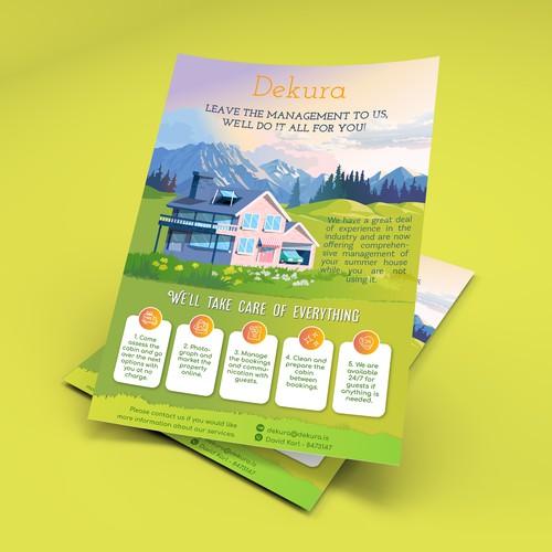 Leaflet for holiday home management services