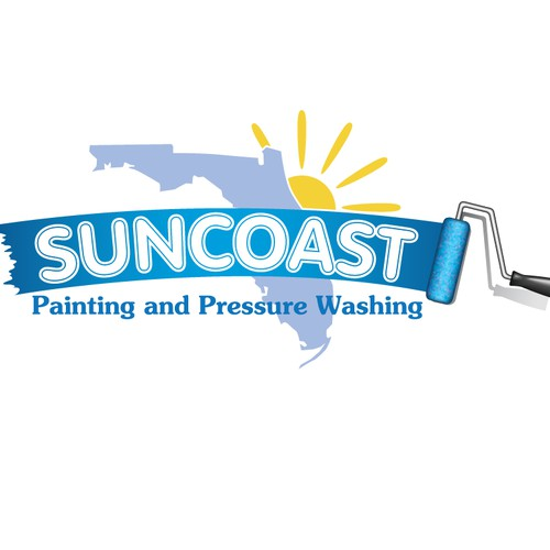 Create the next logo for Suncoast Painting and Pressure Washing
