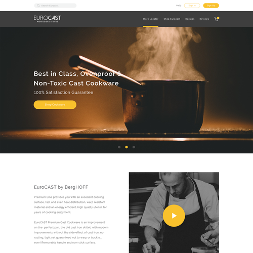 Home page for #1 Cookware Co in Europe