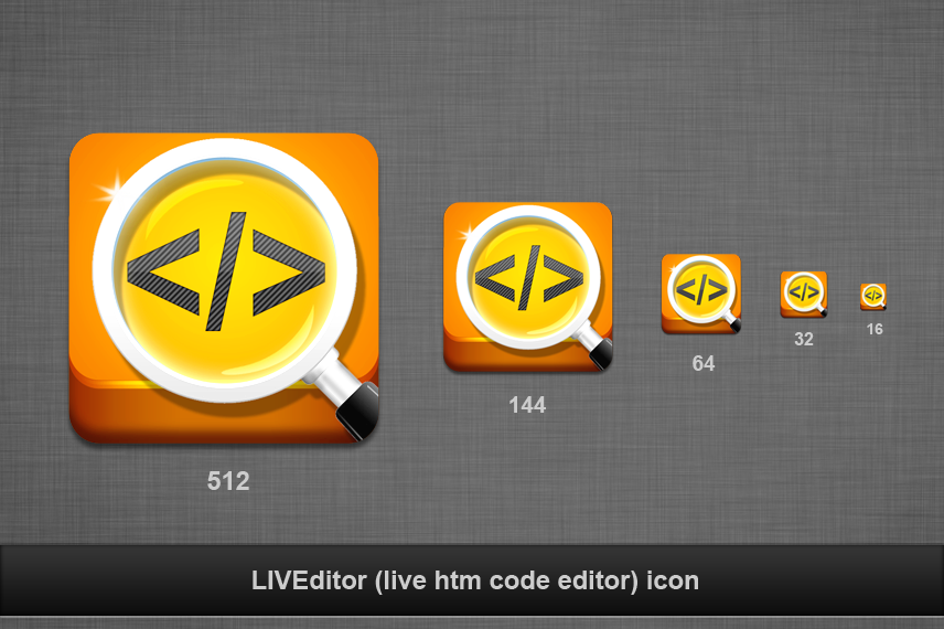LIVEditor (live htm code editor) needs a new application icon