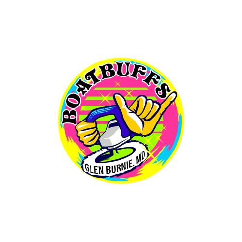 80's logo style