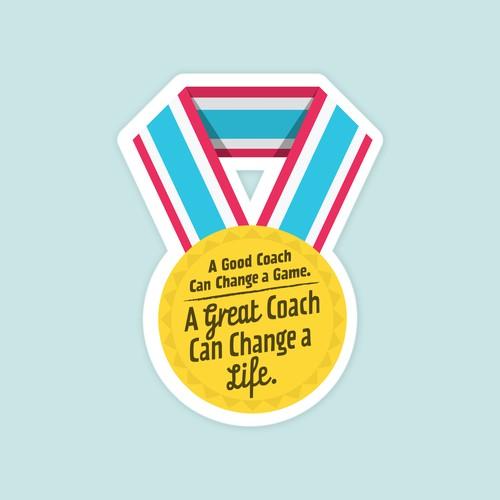 Vinyl sticker for sports coaches