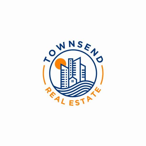 City Line Logo Design, TOWNSEND REAL ESTATE
