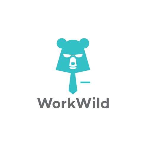 Logo entry for Work Wild logo contest.