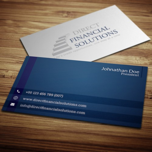 Clean and professional business card design