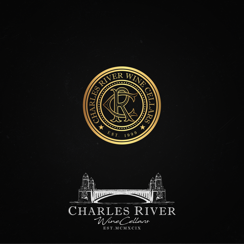 Winning design for Charles River Wine Cellars contest