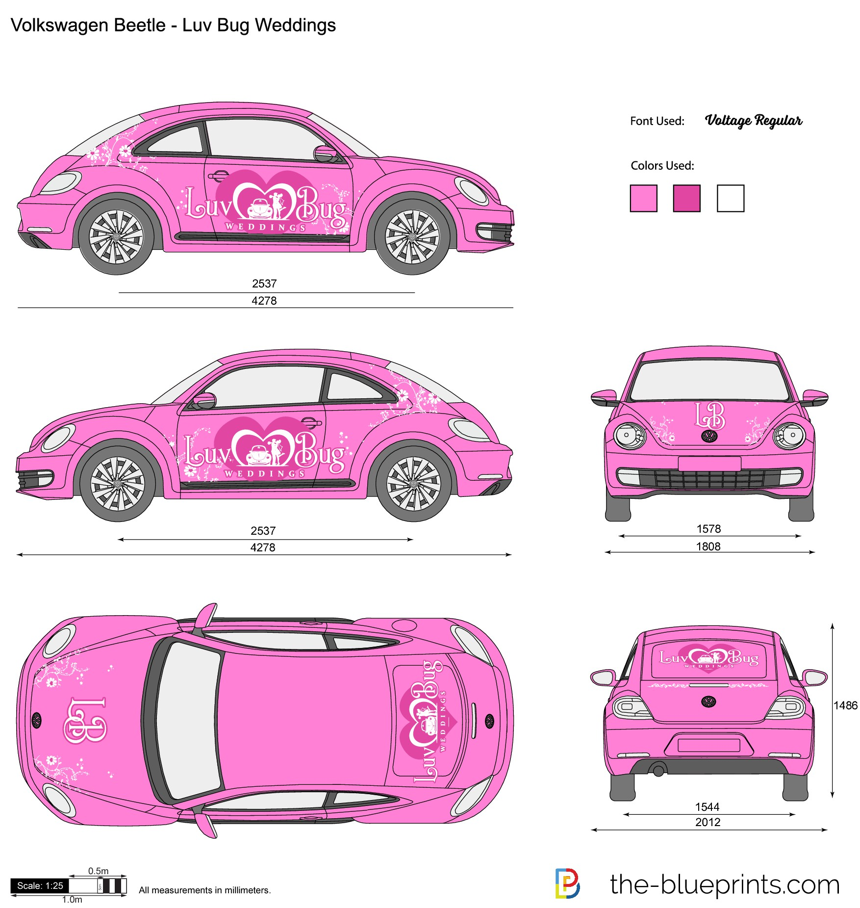 Luv Bug Car Wrap