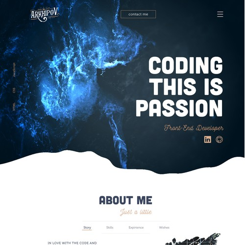 Web design and logo for web developer
