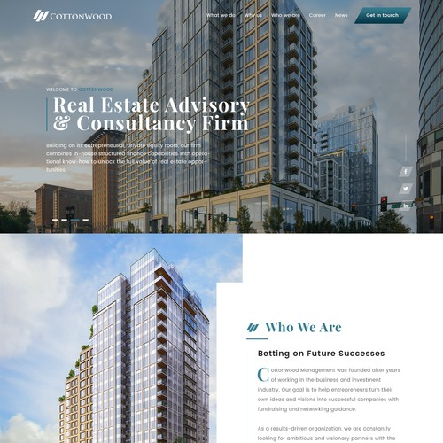 Clean Real estate Website & Mortgage contest