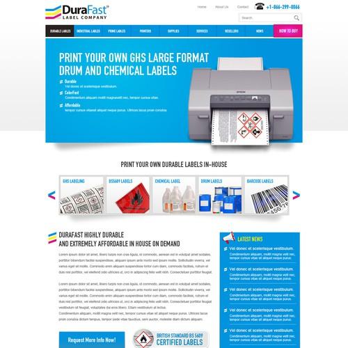 Web Design for Label Company