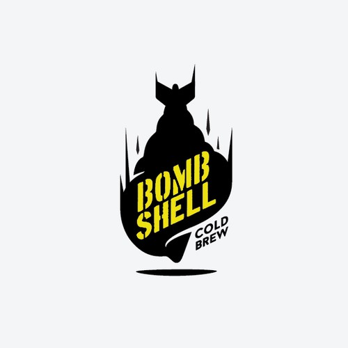 Bold logo design for Bombshell cold brew