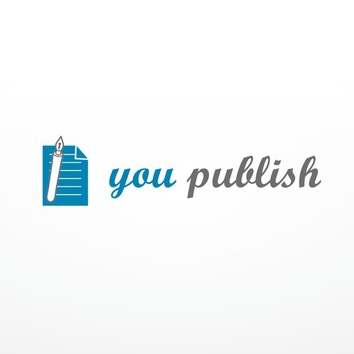 Cooles Logo für revolutionäre, datengetriebene Selfpublishing Plattform