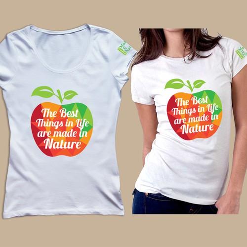 Tee Shirt for an Edgy Organic Food Company