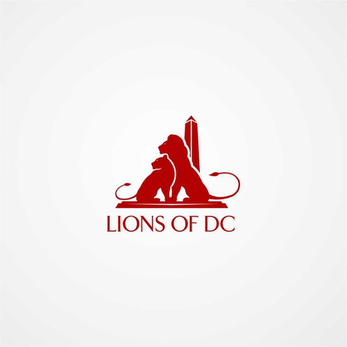 Lion on DC Logo's